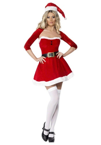 Click Here to buy Sexy Santa Babe Costume from HalloweenCostumes, CDN Funds & Shipping