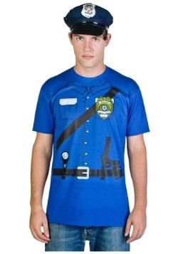 Mens Cop Costume T-Shirt