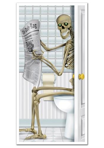 Skeleton Restroom Door Cover