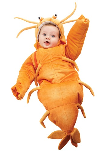 Click Here to buy Baby Shrimp Bunting Costume from HalloweenCostumes, CDN Funds & Shipping