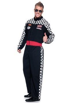 Mens Plus Race Car Driver Costume
