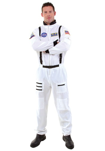 Mens White Astronaut Costume