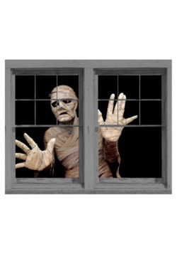 Menacing Mummy Double Window Cling