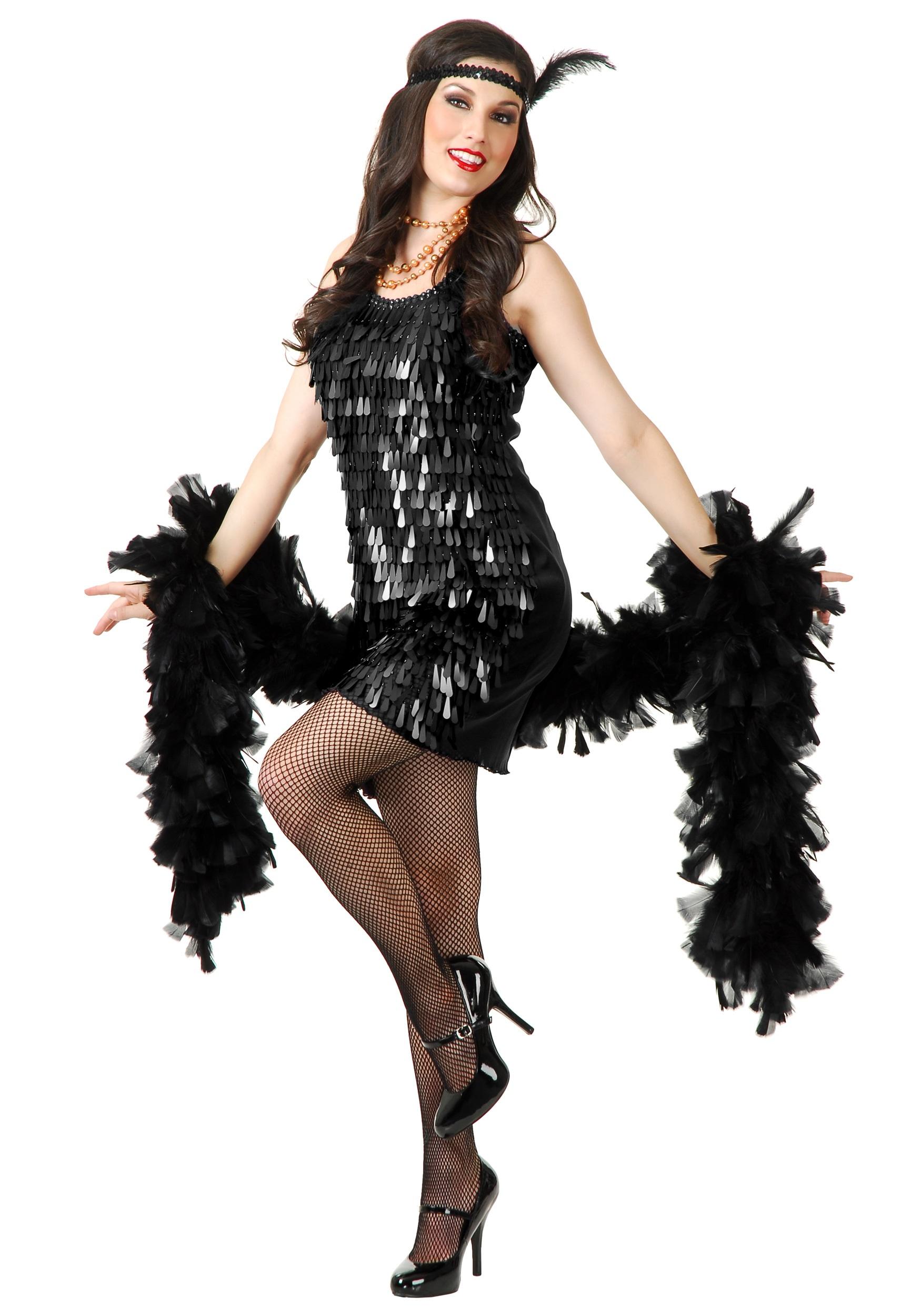 08be501155e8 Black Tear Drop Flapper Costume - Retro 20s Costumes for Women