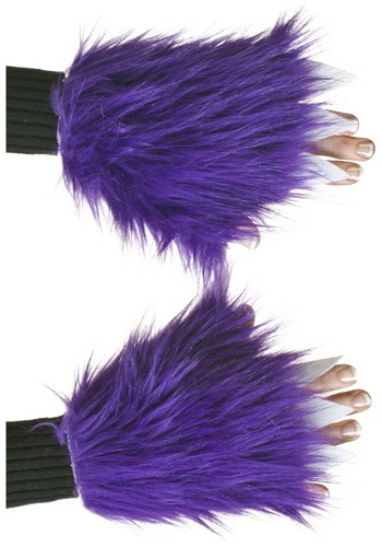Adult Purple Fuzzy Hand Covers