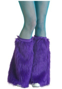 Adult Purple Furry Boot Covers