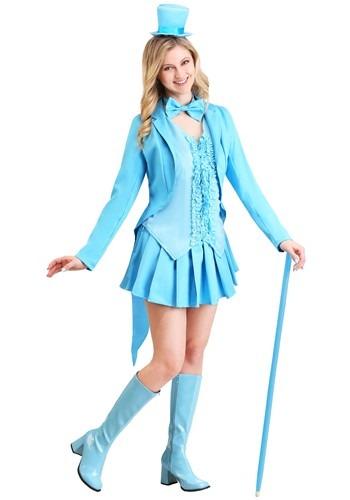 Sexy Blue Tuxedo Costume