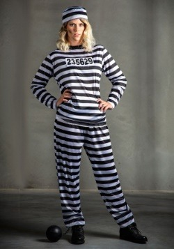 Plus Size Women's Prisoner Costume 1