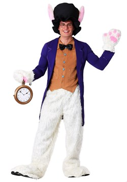 Plus Size White Rabbit Costume