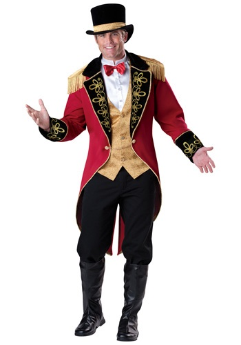 Click Here to buy Mens Elite Ringmaster Costume from HalloweenCostumes, CDN Funds & Shipping