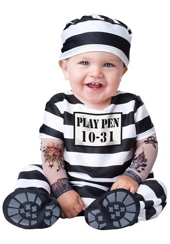 Click Here to buy Baby Time Out Prisoner Costume | Baby Prisoner Costume from HalloweenCostumes, CDN Funds & Shipping