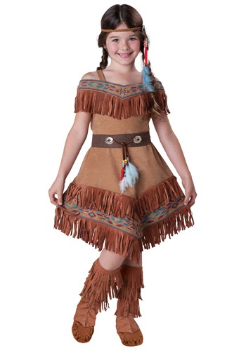 Click Here to buy Kids Native American Maiden Costume from HalloweenCostumes, CDN Funds & Shipping