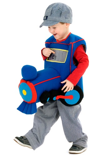 Click Here to buy Toddler Plush Ride in Train Costume from HalloweenCostumes, CDN Funds & Shipping