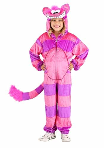 Click Here to buy Cheshire Cat Jumpsuit Kids Costume from HalloweenCostumes, CDN Funds & Shipping