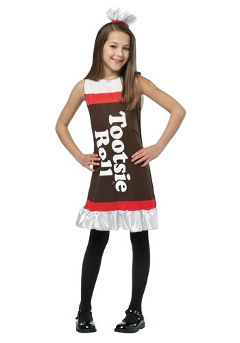 Girls Tootsie Roll Costume Dress