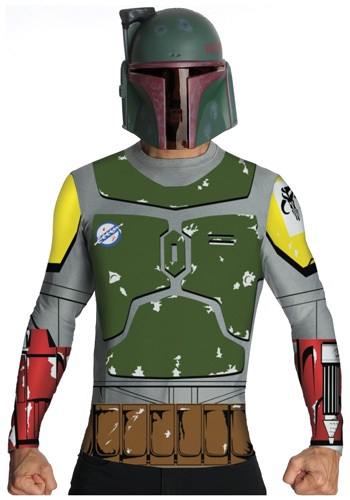 Star Wars Boba Fett Top and Mask Adult Size Costume