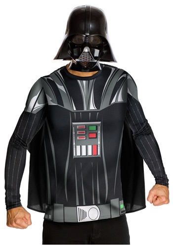 Click Here to buy Adult Darth Vader Costume Top and Mask from HalloweenCostumes, CDN Funds & Shipping