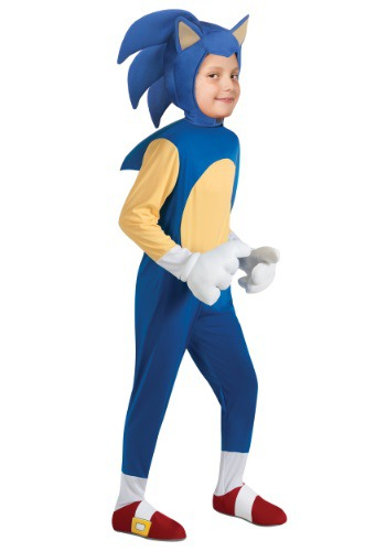 Click Here to buy Kids Deluxe Sonic Costume from HalloweenCostumes, CDN Funds & Shipping