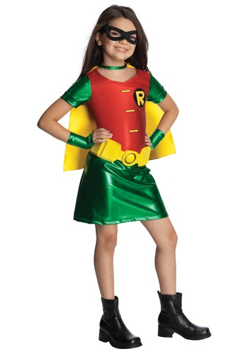 Click Here to buy Girls Titans Robin Costume from HalloweenCostumes, CDN Funds & Shipping