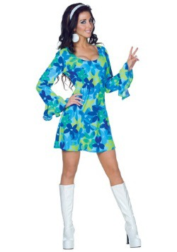 70s Wild Flower Dress Costume