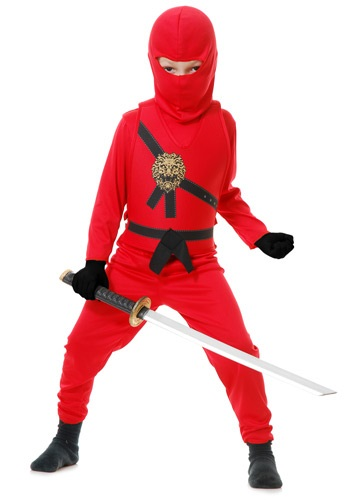 Click Here to buy Kids Red Ninja Master Costume from HalloweenCostumes, CDN Funds & Shipping