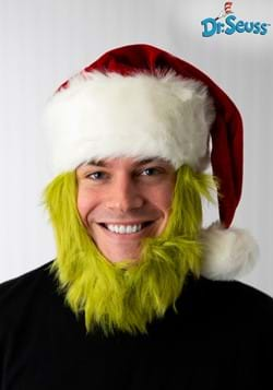 Mister Grinch Hat with Fur Beard-1