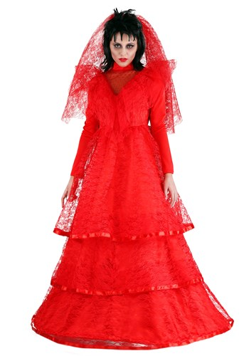 Click Here to buy Red Gothic Wedding Dress Plus Size Costume | Red Ball Gown Dress from HalloweenCostumes, CDN Funds & Shipping
