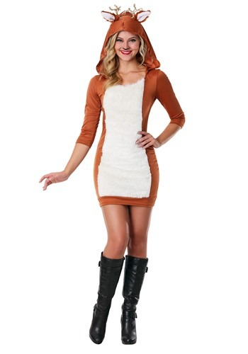 Click Here to buy Plus Size Sexy Deer Costume from HalloweenCostumes, CDN Funds & Shipping