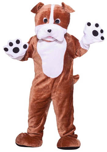 Click Here to buy Plush Bulldog Mascot Costume from HalloweenCostumes, CDN Funds & Shipping