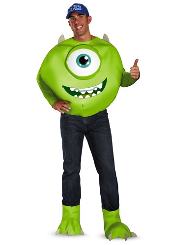 Click Here to buy Monsters Inc Deluxe Adult Mike Costume from HalloweenCostumes, CDN Funds & Shipping
