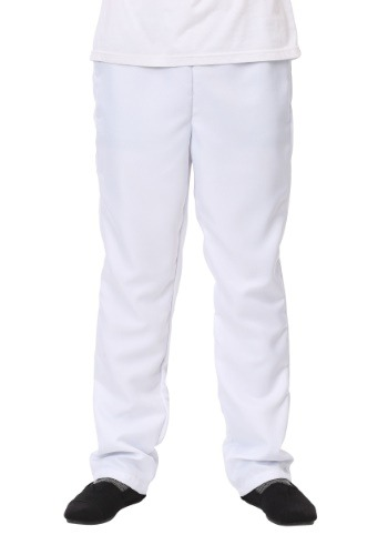 Mens White Pants - Plain White Pants