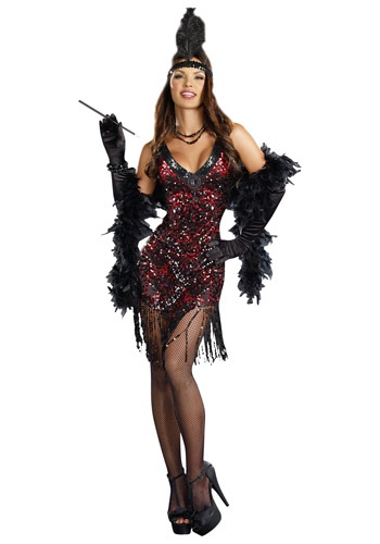 Click Here to buy Womens Dames Like Us Flapper Costume from HalloweenCostumes, CDN Funds & Shipping