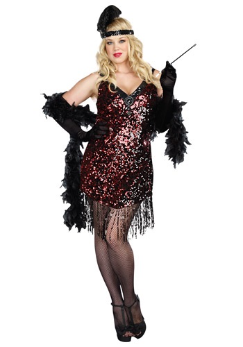 Click Here to buy Plus Size Dames Like Us Flapper Costume from HalloweenCostumes, CDN Funds & Shipping