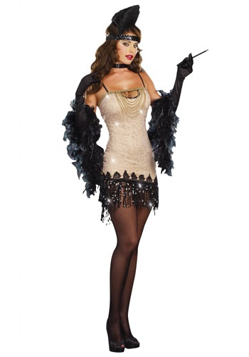Click Here to buy Womens Jazzy Jezebel Flapper Costume from HalloweenCostumes, CDN Funds & Shipping