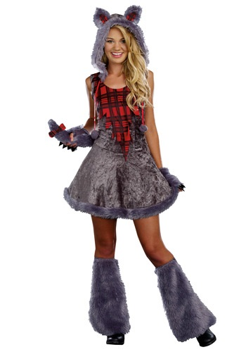 Click Here to buy Full Moon Sassy Werewolf Costume for Teens from HalloweenCostumes, CDN Funds