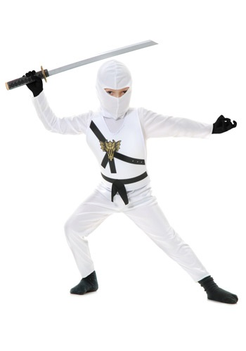 White Child Ninja Costume