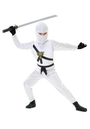 White Child Ninja Costume