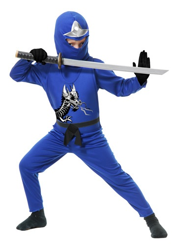 Click Here to buy Kids Ninja Avengers Series II Blue Costume from HalloweenCostumes, CDN Funds