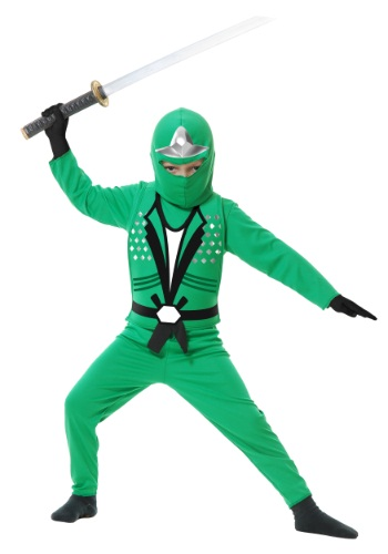 Click Here to buy Kids Ninja Avengers Series II Green Costume from HalloweenCostumes, CDN Funds & Shipping