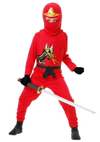 Click Here to buy Kids Ninja Avengers Series II Red Costume from HalloweenCostumes, CDN Funds