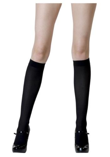 Womens Black Knee High Stockings