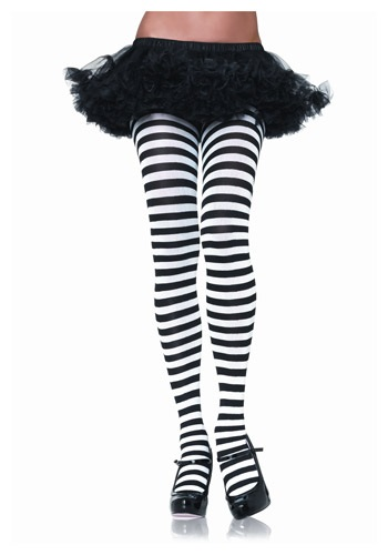 Click Here to buy Black & White Striped Tights from HalloweenCostumes, CDN Funds & Shipping