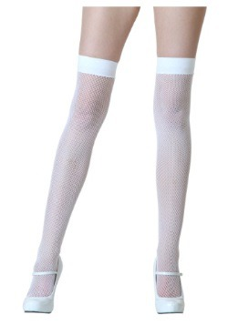 Thigh High White Stockings for Women