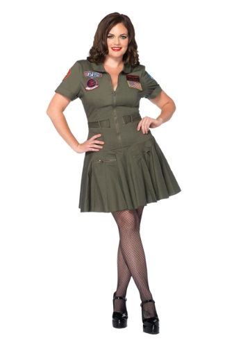 Plus Size Top Gun Flight Dress	new image