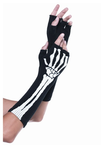 Click Here to buy Skeleton Fingerless Gloves from HalloweenCostumes, CDN Funds & Shipping