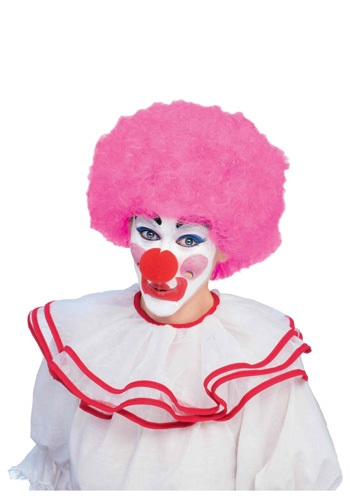 Click Here to buy Pink Afro Clown Wig from HalloweenCostumes, CDN Funds & Shipping