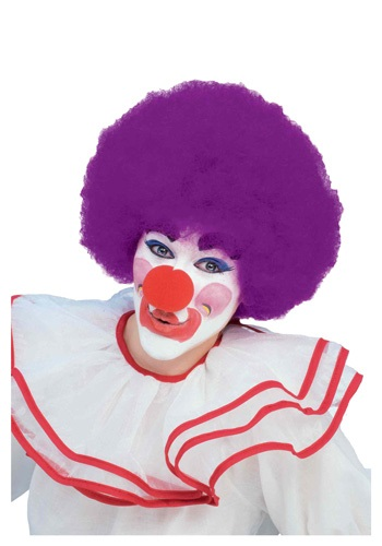 Click Here to buy Purple Afro Clown Wig from HalloweenCostumes, CDN Funds & Shipping