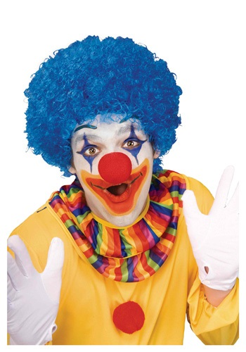 Click Here to buy Blue Afro Clown Wig from HalloweenCostumes, CDN Funds & Shipping