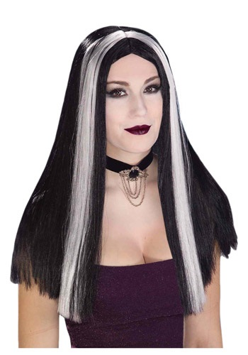 Click Here to buy Long Black and White Streaked Wig from HalloweenCostumes, CDN Funds & Shipping