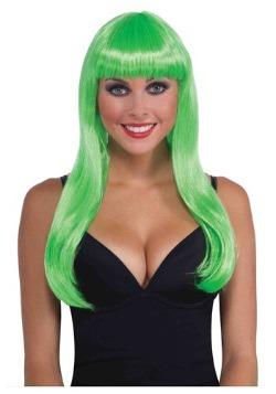 Long Neon Green Wig